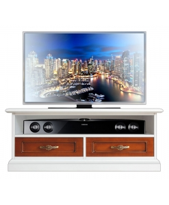 Two tone TV low unit in wood, wooden Tv unit, Tv cabinet for living room, Two tone furniture, Italian design furniture, Arteferretto Tv stand, Arteferretto Tv unit, Arteferretto Tv cabinet, wooden unit for living room, entertainment Tv cabinet