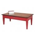 two tone coffee table, coffee table, red coffee table, red furniture, classic furniture, italian design furniture, wooden coffee table, living room coffee table, living room furniture