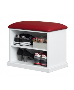 Shoe rack, shoe rack with upholstered seat, bench, entryway furniture, small cabinet for shoes