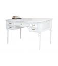 Classic desk, classic white desk, laquered desk, wooden desk, office furniture
