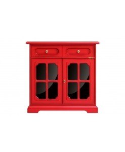 red sideboard, living-room furniture, wooden sideboard, laquered sideboard,red sideboard, red sideboard with black reflex