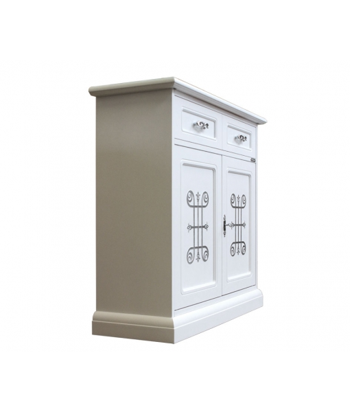 sideboard, white and silver sideboard, classic sideboard, italian design, classic style, living-room furniture, classic furniture
