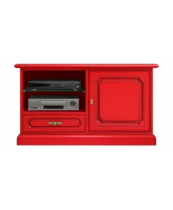 tv cabinet, red tv stand, red furniture, wooden tv cabinet, living-room furniture, italian design, flaming red furniture