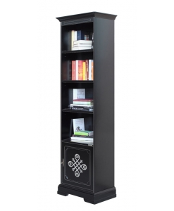 wooden bookcase,bookcase, black bookcase, italian design, furniture for office, living-room furniture, black furniture,