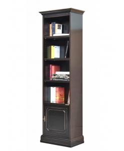 bookcase, space saving bookcase, book shelving, wooden bookcase, bookcase in wood, living-room furniture, black bookcase, black furniture