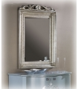 mirror with handmade leaf, golden leaf mirror, silver leaf mirror, classic style mirror, elegant mirror, entryway furniture, italian design mirror,