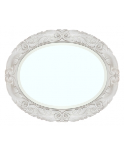wooden frame,mirror, oval mirror, bevelled mirror,
