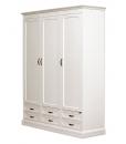 Modular wordrobe,White wardrobe, bedroom furniture,Modular wardrobe, 3 doors and 6 drawers