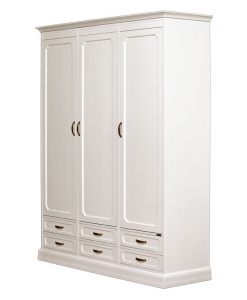 Modular wordrobe,White wardrobe, bedroom furniture,Modular wardrobe, 3 doors and 6 drawers