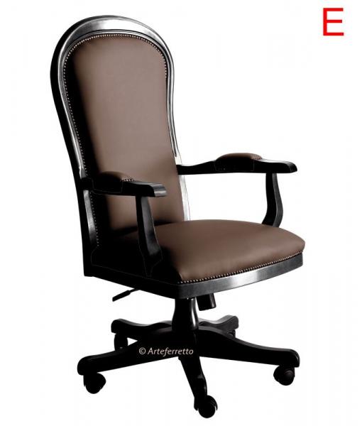 swivel armchair, office armchair, classic armchair, upholstered swivel armchair, office furniture, handcrafted armchair