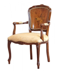 inlaid classic armchair, armchair, elegant armchair, padded armchair, living-room armchair, wooden armchair, classic armchair, italian design