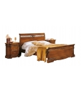 pierced bed, wooden bed, double bed, classical pierced bed with inlay