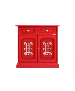 red sideboard, sideboard, colored sideboard, colored furniture, living room sideboard, wooden sideboard, wooden cabinet, living room cabinet
