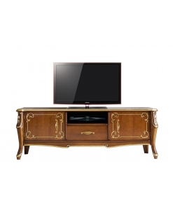 classical tv unit, tv stand, classical furniture, living room furniture, classic living room, wooden tv unit, tv cabinet classic style, italian desig, classic design, tv cabinet with golden leaf
