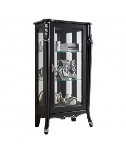 "display cabinet, Display cabinet single door ""Beautiful line"", black cabinet, wooden cabinet, italian design"