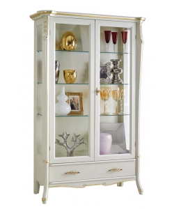 lacquered display cabinet, display cabinet, wooden display cabinet, living room furniture, classic display cabinet, classic cabinet with glass doors, classic style, italian design