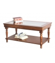wooden coffee table, rectangular coffee table, Louis Philippe coffee table, coffee table, classic coffee table, coffee table with glass top, Louis Philippe style, classic style, Louis Philippe furniture, living room furniture,