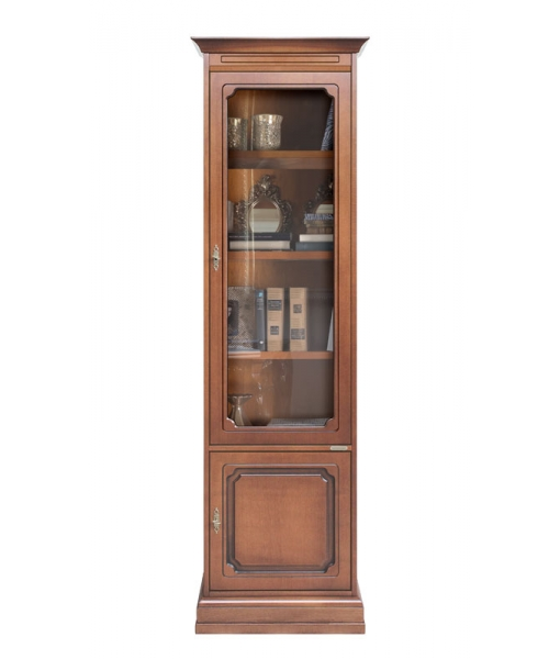 Space saving bookcase in wood, SKU: 4088-PS