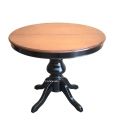 Extendable two colour round table