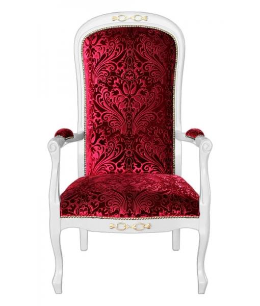 upholstered armchair, classic armchair, wooden armchair, living room armchair, classic style turn into modern, italian design armchair, armchair, elegant armchair, padded armchair, red armchair