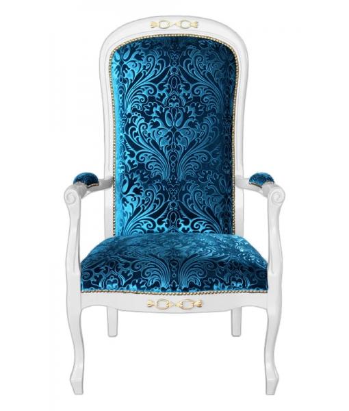 upholstered armchair, classic armchair, wooden armchair, living room armchair, classic style turn into modern, italian design armchair, armchair, elegant armchair, padded armchair, blue armchair