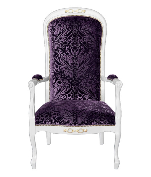 upholstered armchair, classic armchair, wooden armchair, living room armchair, classic style turn into modern, italian design armchair, armchair, elegant armchair, padded armchair, purple armchair