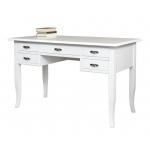 classic writing desk, classic style, italian design desk, white writing desk, writing desk, writing desk in wood, wooden desk, writing desk bureau, desk with drawers, office writing desk, office desk, office furniture