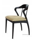 italian furniture, chair made in italy, italian design wooden chair, wooden chair, black chair, modern design chair, dining room chair, chair, padded chair, upholstered chair,