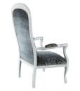 upholstered armchair, classic armchair, wooden armchair, living room armchair, classic style turn into modern, italian design armchair, armchair, elegant armchair, padded armchair, grey armchair