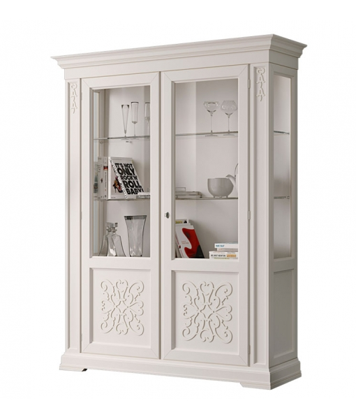 Lacquered display cabinet with friezes. Sku. EG-55