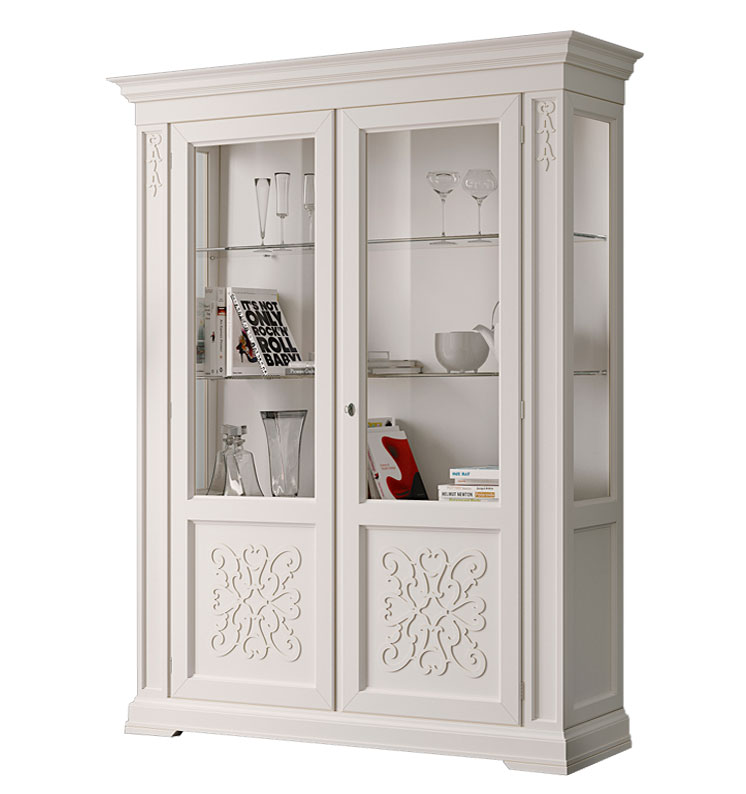 Lacquered Display Cabinet With Friezes. Sku. EG 55