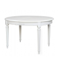 oval dining table, extendable table in Empire style, classic table, white table, kitchen table, dining room table,