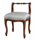wooden footstool, footstool, classic footstool, footstool with backrest, classic furniture, classic style, bedroom furniture, living room furniture, padded footstool