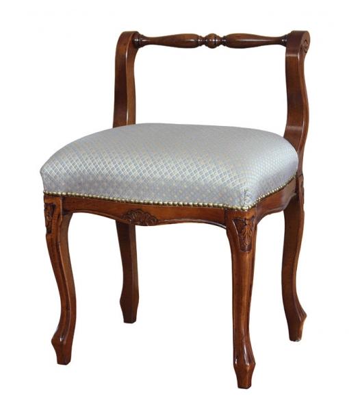 Wooden footstool with backrest. Sku. GM-400