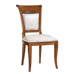Elegant padded chair, wooden chair, dining room chair, living room chair, chair, classic chair,