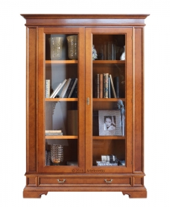 2 door display cabinet, showcase, display cabinet, wooden display cabinet, living room cabinet, classic furniture, living room furniture