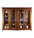 Glass door bookcase, bookcase, wooden bookcase, Display cabinet, Classic cabinet for living room, living room furniture, classic style furniture, furniture made in Italy,
