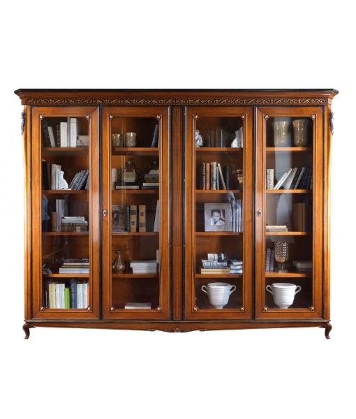 Glass door bookcase for living room. Sku. V85