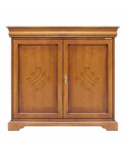 2 door dining room sideboard, living room sideboard, elegant cabinet, classic furniture, Louis Philippe style, sideboard with drawer, wooden sideboard, sideboard with friezes