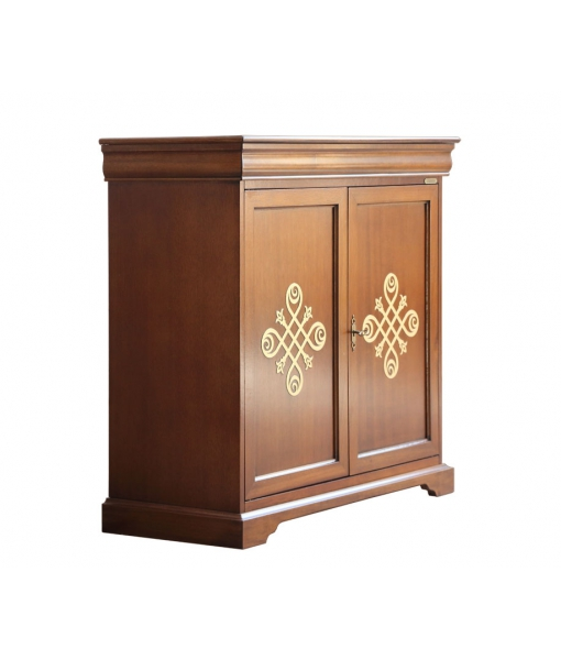 2 door sideboard with gold friezes