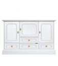 wooden sideboard buffet, sideboard, white sideboard, living room sideboard, classic sideboard, italian furniture, 3 door sideboard, sideboard with drawers