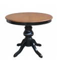 Extendable two colour round table. Sku 446-BIC-100
