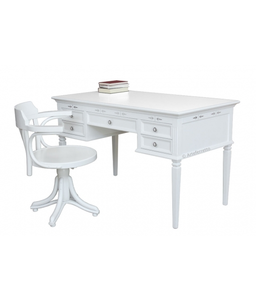 Writing desk with chair for study room. Sku 6831-L-CO