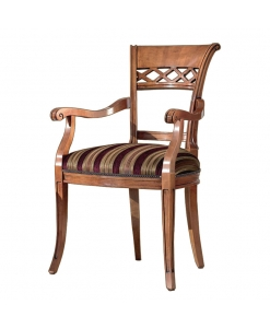 Armrests dining chair, carved chair, carved wood, solid beech wood, kitchen chair, dining room furniture, dining chair