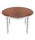 two tone dining table, dining table in wood, wooden table, bicoloured table, rounded table, extendable table for kitchen, classic round table