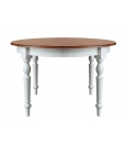 Two tone dining table, dining table
