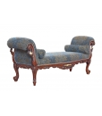 Rolled arm upholstered bench