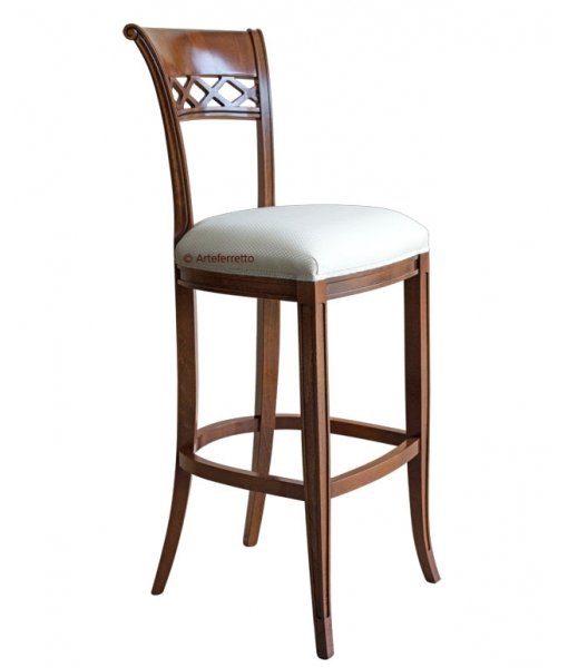 Classic backrest kitchen stool, SKU: SGA-C050