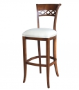 Classic backrest kitchen stool
