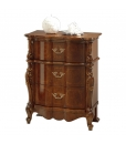 elegant bedside table in classic style, classic furniture, nightstand in wood, wooden bedside table